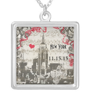 Wedding Vintage New York City Anniversary Necklace