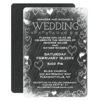 Wedding Vintage Rustic Chalkboard Card