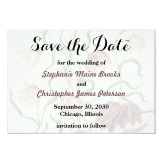 Wedding Vintage Watercolor Lily Save the Date Card