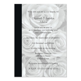 Wedding Vow Renewal Gorgeous Roses 13 Cm X 18 Cm Invitation Card