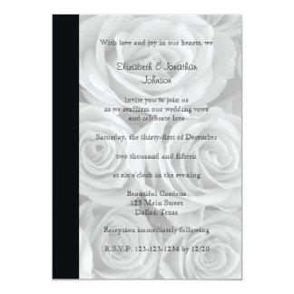 Wedding Vow Renewal Gorgeous Roses 13 Cm X 18 Cm Invitation Card