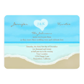 "Wedding Vow Renewal Invitations 5"" X 7"" Invitation Card"