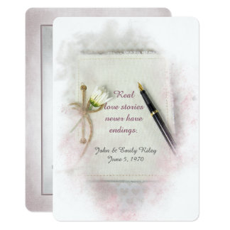 Wedding Vow Renewal journal with daisy Card