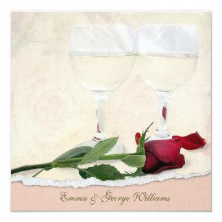 Wedding Vow Renewal Rose 13 Cm X 13 Cm Square Invitation Card
