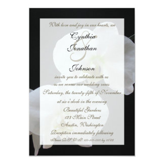 Wedding Vow Renewal White Orchids 13 Cm X 18 Cm Invitation Card