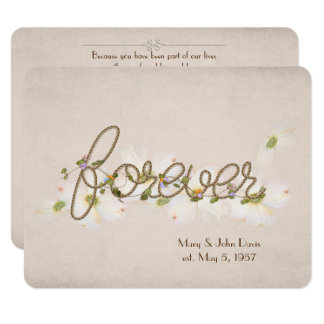 wedding vow renewal-word forever with flowers card