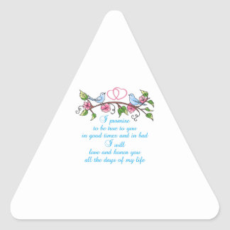 WEDDING VOWS TRIANGLE STICKERS