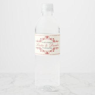 Wedding Water Bottle Label