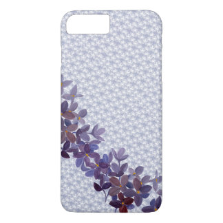 Wedding watercolor flowers with lace pattern iPhone 7 plus case