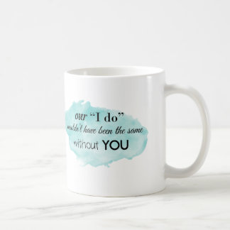 Wedding Watercolor Thank You Mug