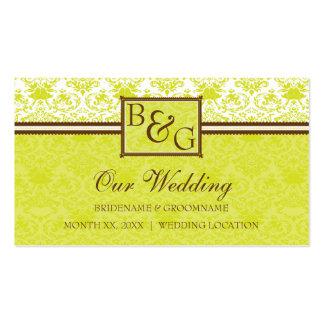 Wedding Website Business Card Template