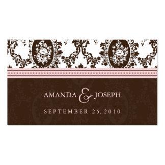 Wedding Website Business Card-Victorian Romance