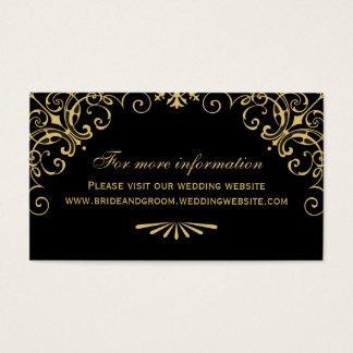Wedding Website Card | Art Deco Style
