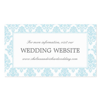 Wedding Website Card | Classic Damask Border Pack Of Standard Business Cards