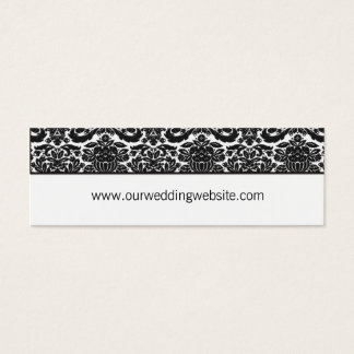 Wedding website card - damask accent