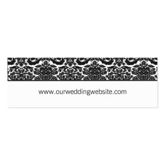 Wedding website card - damask accent pack of skinny business cards