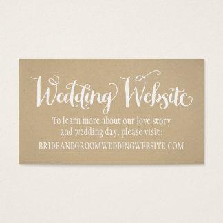 Wedding Website Card | Kraft Brown