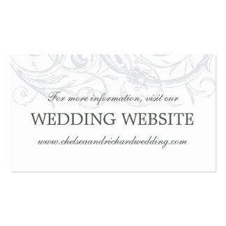 Wedding Website Card | Vintage Scrollwork Pack Of Standard Business Cards