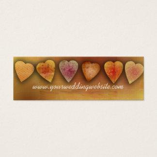 Wedding website cards