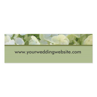 wedding website cards business card