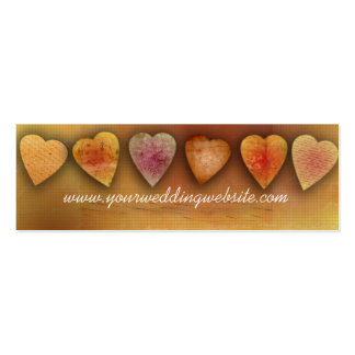Wedding website cards business card templates