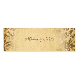 Wedding Website Cards {Toffee} Pack Of Skinny Business Cards