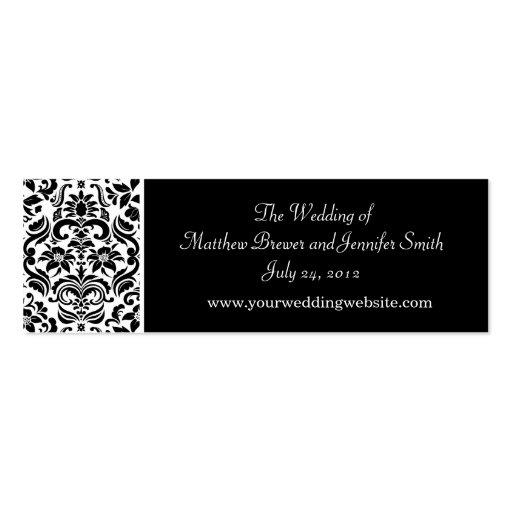 Wedding Website Information Cards Business Card