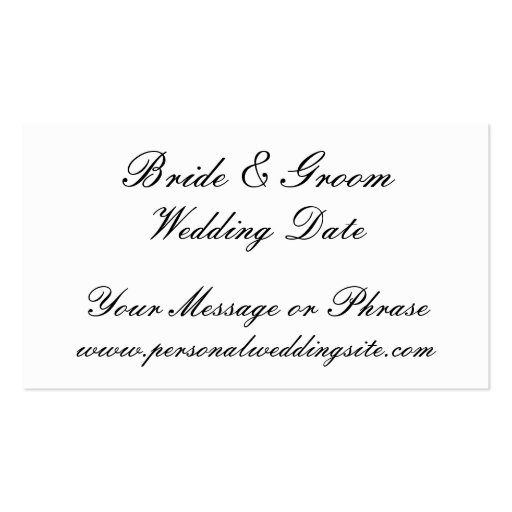 Wedding Website Insert Card for Invitations Business Card Template