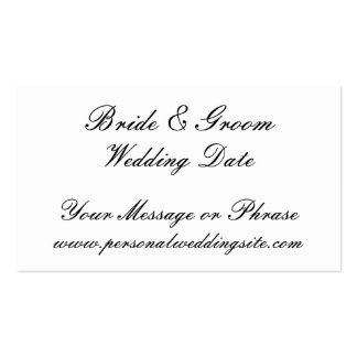 Wedding Website Insert Card for Invitations Pack Of Standard Business Cards