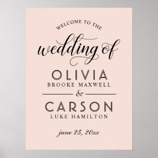 Wedding Welcome Sign | Blush Pink