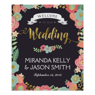 Wedding Welcome sign / Rustic wedding floral