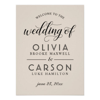 Wedding Welcome Sign | Warm White
