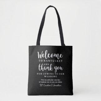 Wedding Welcome, Thank You Hotel Custom Gift Bag