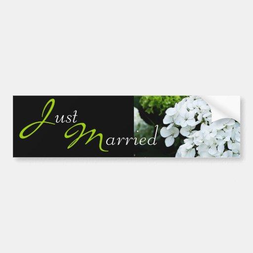 Wedding White Hydrangea Bumper Sticker