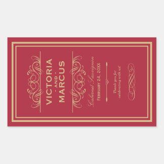 Wedding Wine Bottle Monogram Favor Labels Stickers