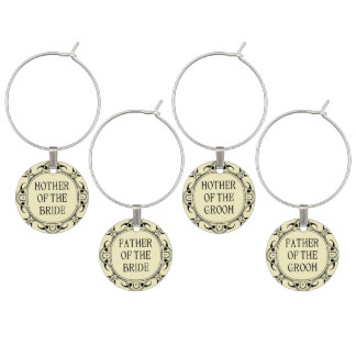 Wedding Wine Charms - Set Of Four