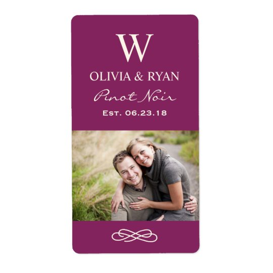 Wedding Wine | Personalised Photo Favour Stickers Shipping Label
