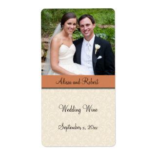 Wedding Wine Photo Label Shipping Label