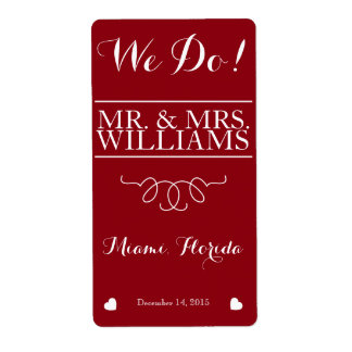 wedding wine table wine bottle label shipping label