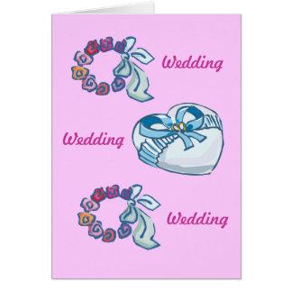 Wedding wishes greeting card