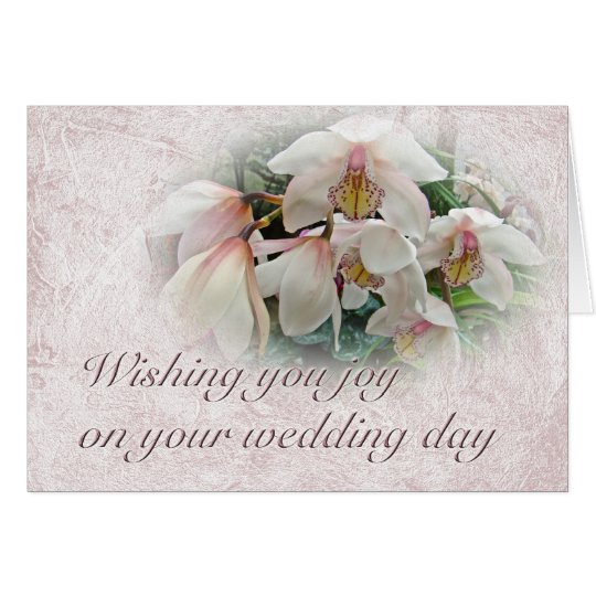 Wedding Wishes - Orchids Card