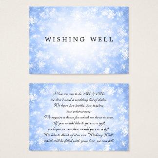 Wedding Wishing Well Blue Winter Wonderland Business Card