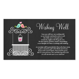 Wedding Wishing Well Cute Love Birds Double-Sided Standard Business Cards (Pack Of 100)