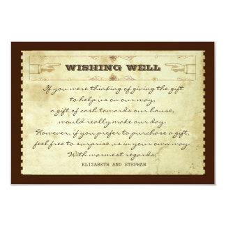 wedding wishing well vintage cards 9 cm x 13 cm invitation card