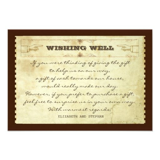 wedding wishing well vintage cards