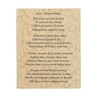 Wedding Wood Prints