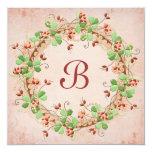 Wedding Wreath Vow Renewal 13 Cm X 13 Cm Square Invitation Card