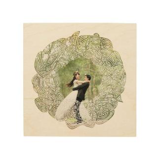 Wedding Wreath Wood Canvas