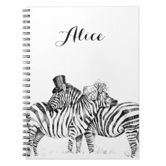 Wedding zebras notebooks