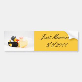 weddingducks - Just Married sticker Bumper Sticker